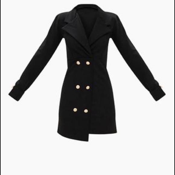4cb419b286d Black Gold Button Detail Blazer Dress US Size  4